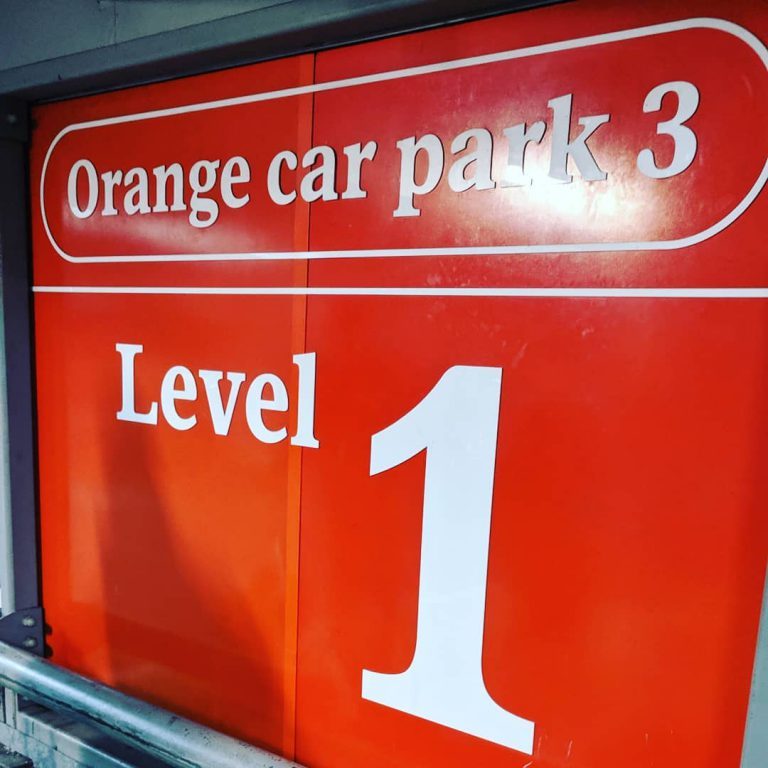 Gatwick orange carpark