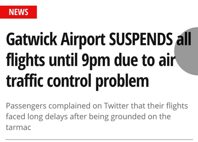 Gatwick …we have a problem