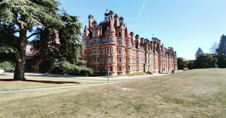 At Royal Holloway university