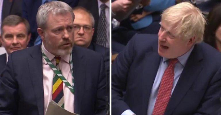 Bracknell MP James Sunderland quizzes Prime Minister Boris Johnson