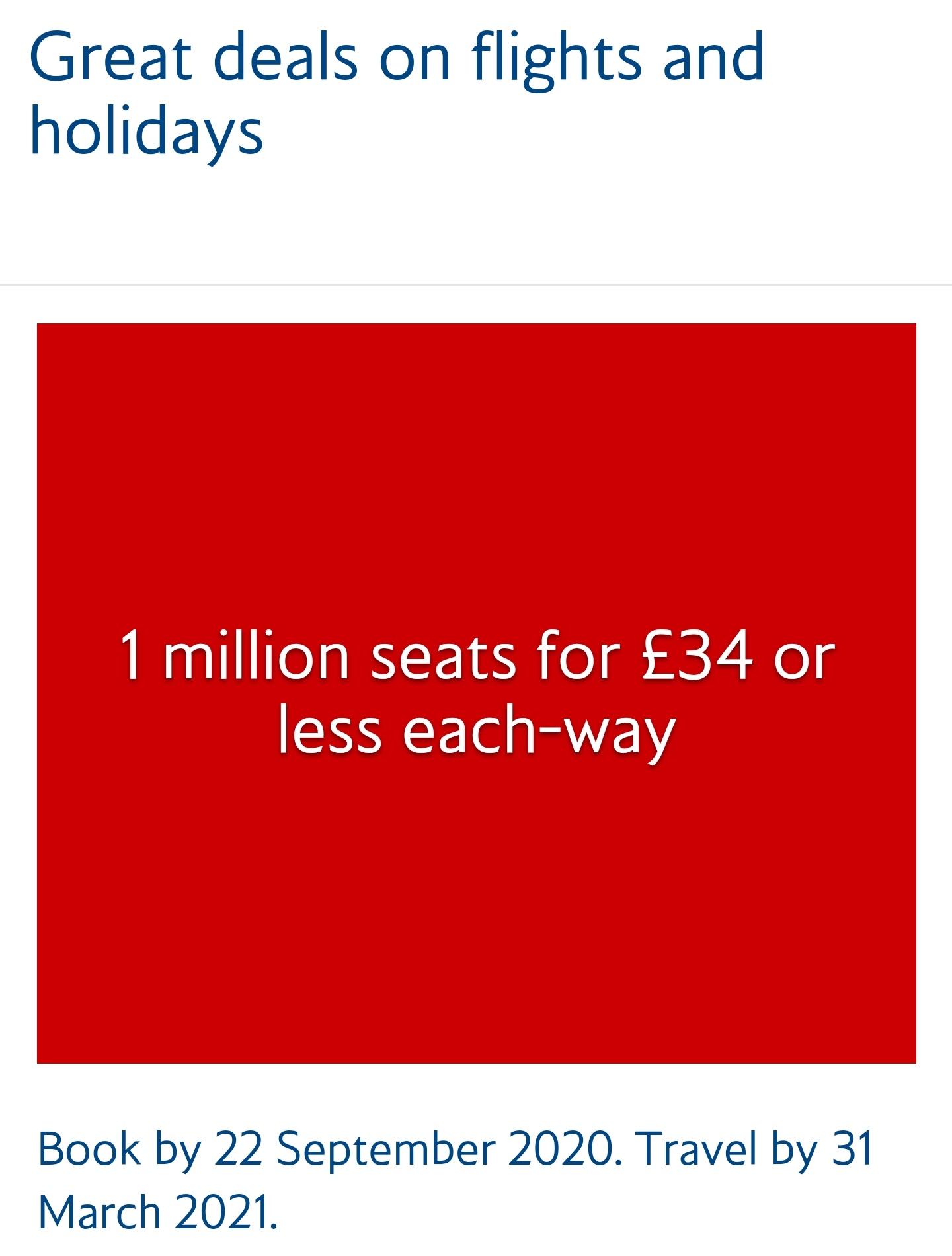 British airways deal